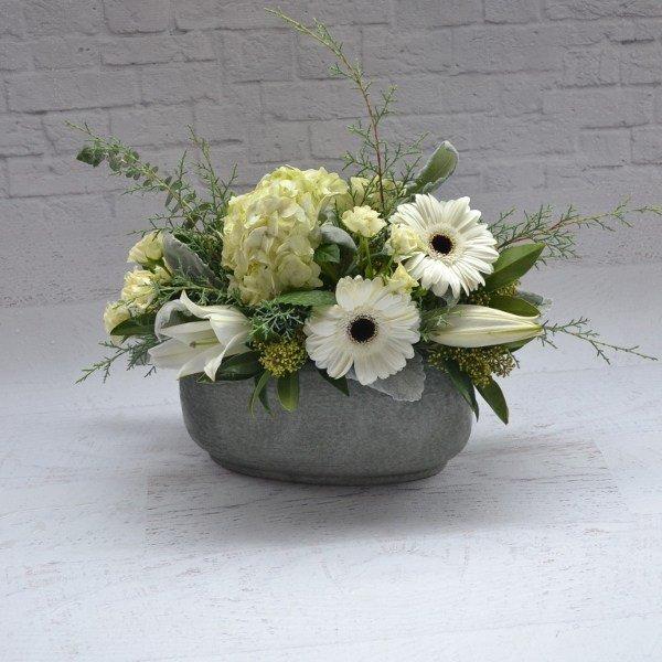 big love hydrangea gerbera white green 1