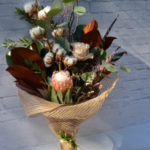 cotton smokebush protea greenery