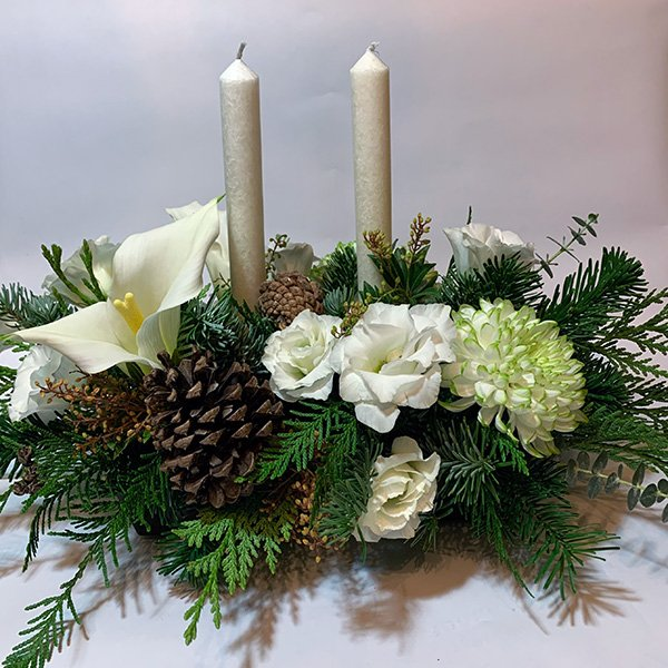 winter elegance christmas centerpiece