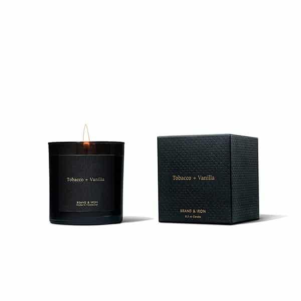 candle brand iron dark spaces tobacco vanilla