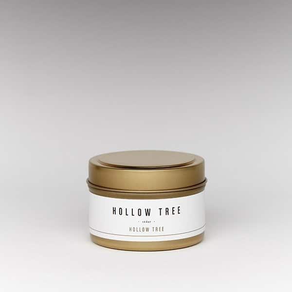 hollow tree travel tin