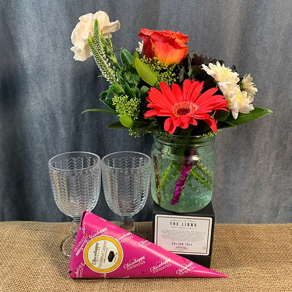 gift basket chocolate flowers