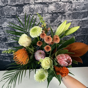 Autumn Tropical Birthday Bouquet for Her