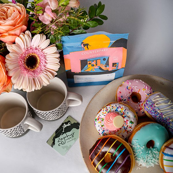 donuts and coffee anyone delicious