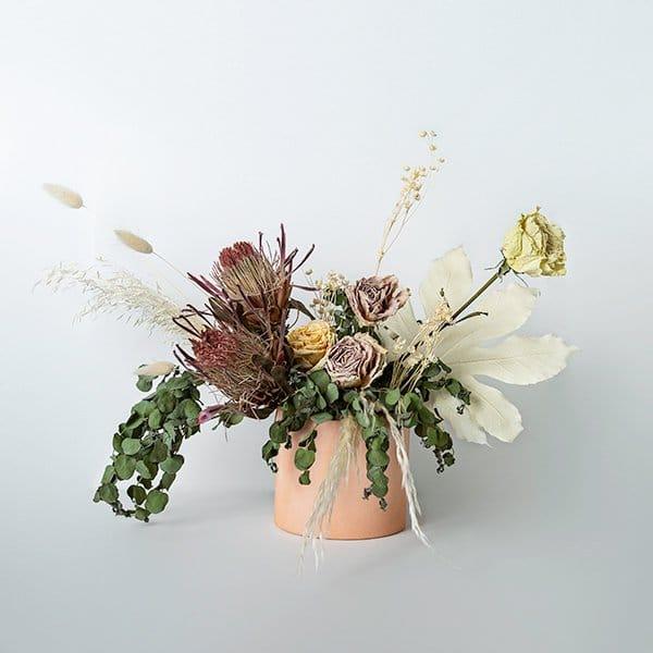 dried vase eucalyptus neutral