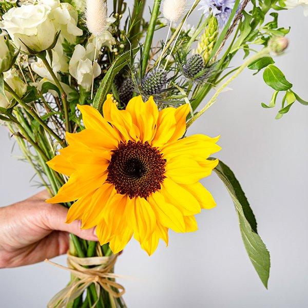 wildflowers wild flower bouquet yellow sunflower