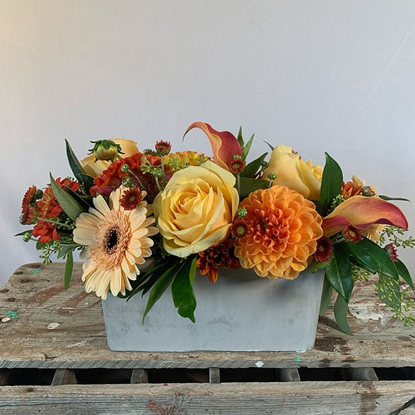 Autumn Centerpiece Yellow & Orange