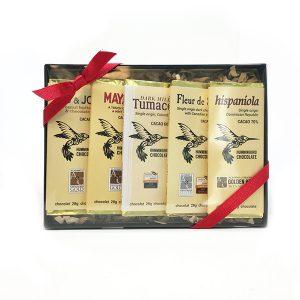 hummingbird chocolate sampler 5 pack gift box